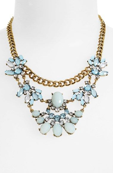 BP. Crystal Floral Statement Necklace (Juniors) available at #Nordstrom