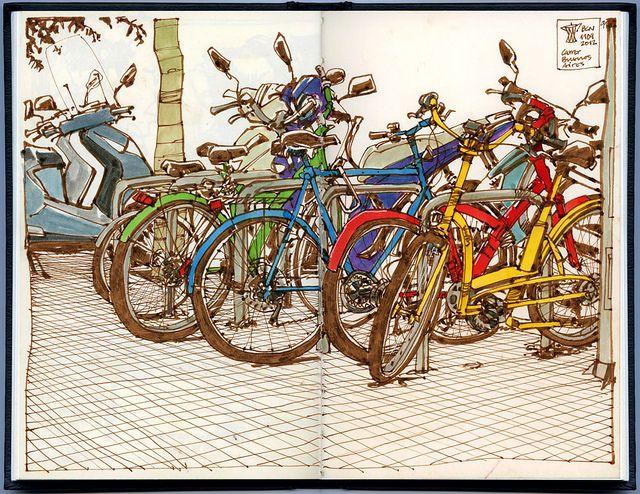 Bike mess, via Flickr.