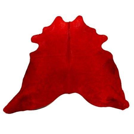 Pols Potten Bullskin vloerkleed rood