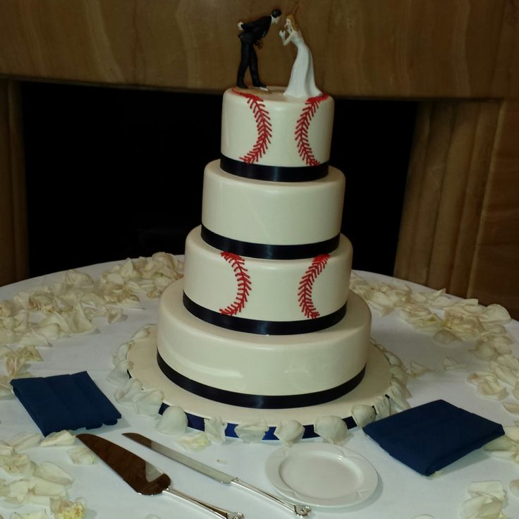 My Baseball wedding cake