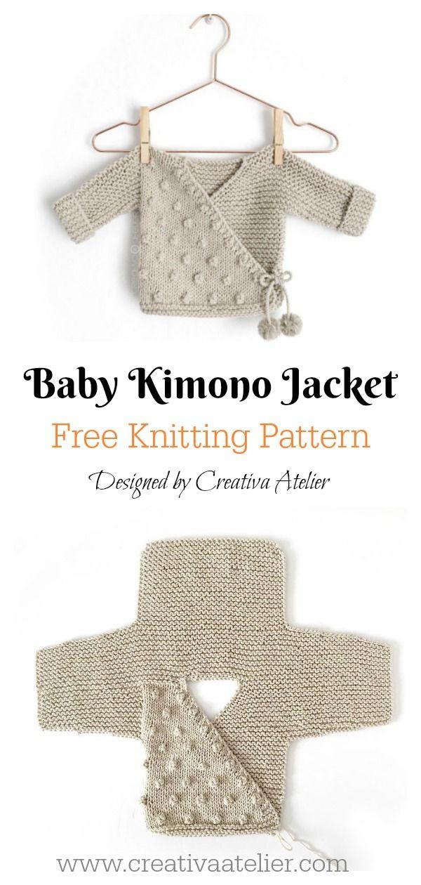 Kimono Sweater Free Knitting Pattern – Stricken und Häkeln