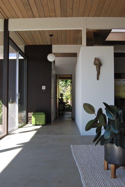 Entry Foyer With Polished Concrete Floor | Via Design*sponge