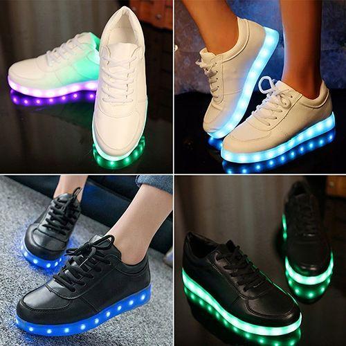 USB Uniisex Charge Fluorescence Side Zipper Chaussures de skate g5EWw