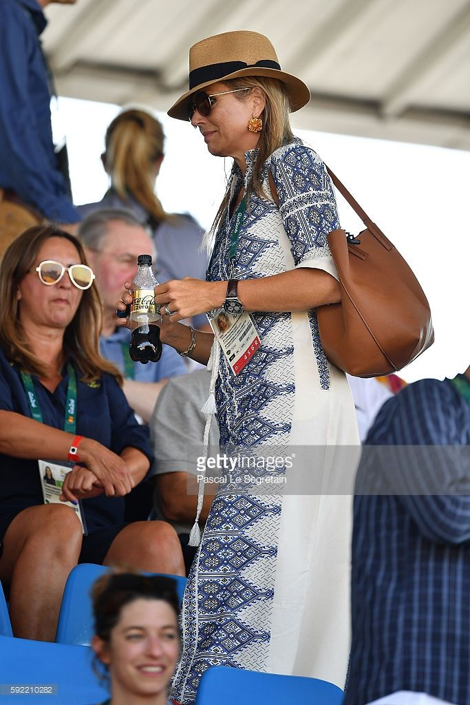 Queen Maxima of the Netherlands attends the Equestrian Jumping individual final…