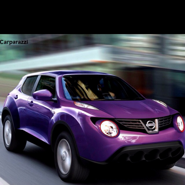 OMGosh are you kidding me? Nissan Juke in PURPLE???!!!