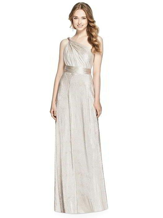 Soho Metallic Twist Dress in Rose Gold. Dessy Group Bridesmaids
