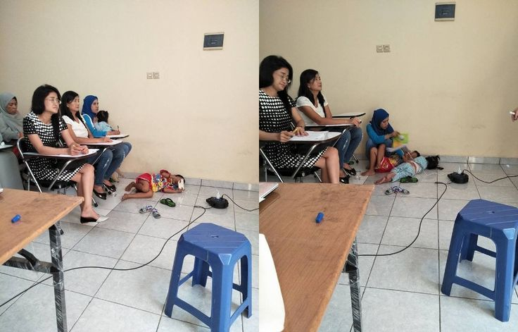 Tidurkan Anak di Lantai Foto Seorang Ibu Bawa Dua Anaknya Belajar di Kelas Ini Viral Cerita Dibaliknya Bikin Terharu