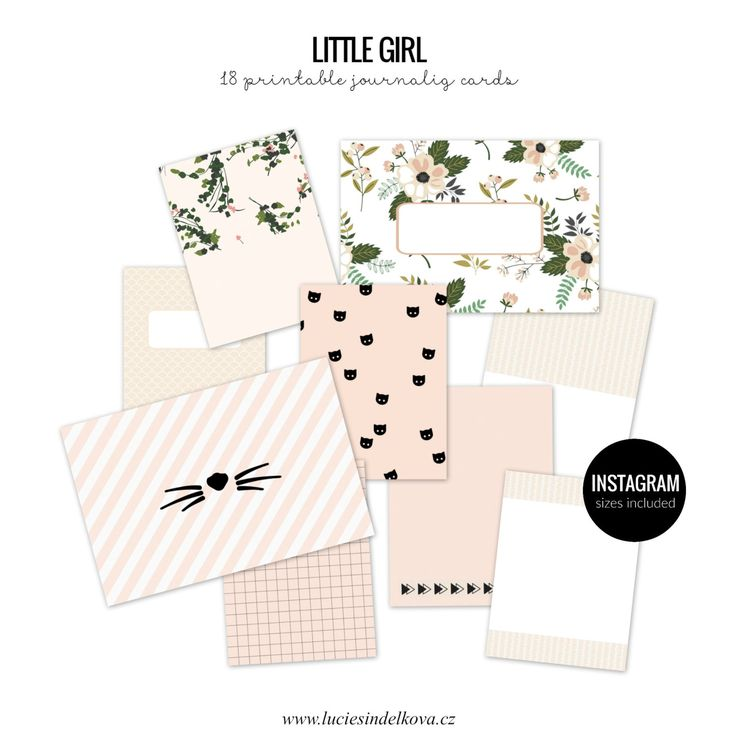 LITTLE PRINCESS Printable journaling cards for Project Life and scrapbooking-20pcs by LucieSindelkova on Etsy