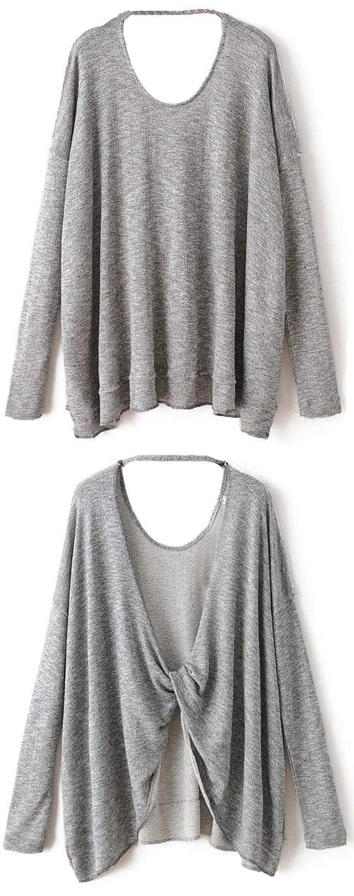 Every year during the autumn, there are a few pieces in your wardrobe that get the most love. This open back top is made in soft material. Hit more attractive pieces at Cupshe.com !