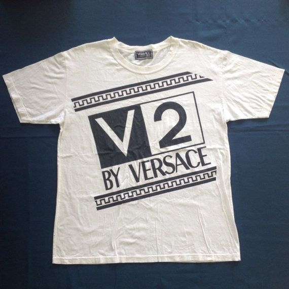 Vintage VERSACE Classic V2 Italy T Shirt by manicstore on Etsy, $87.00