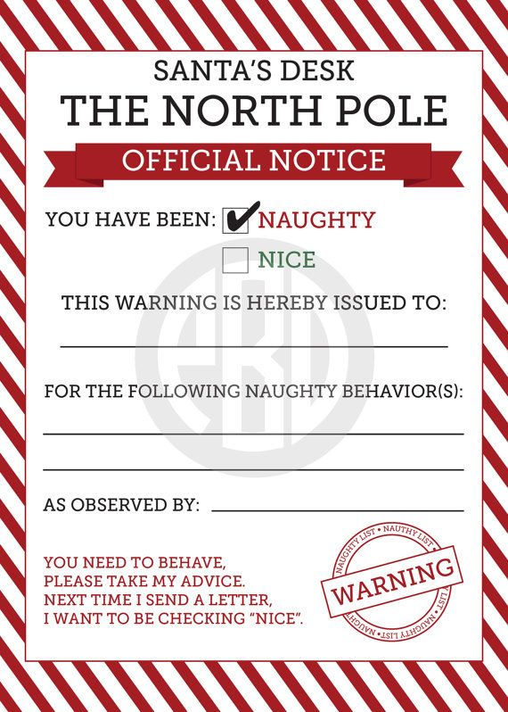 naughty  u0026 nice notices from christmas elf by