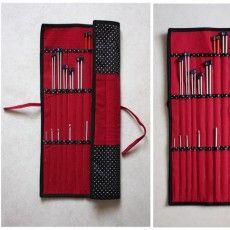Pochette pour aiguilles à tricoter