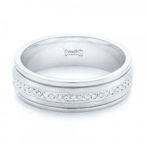 Custom Hand Engraved Diamond Men's Band Joseph Jewelry | Seattle | Bellevue