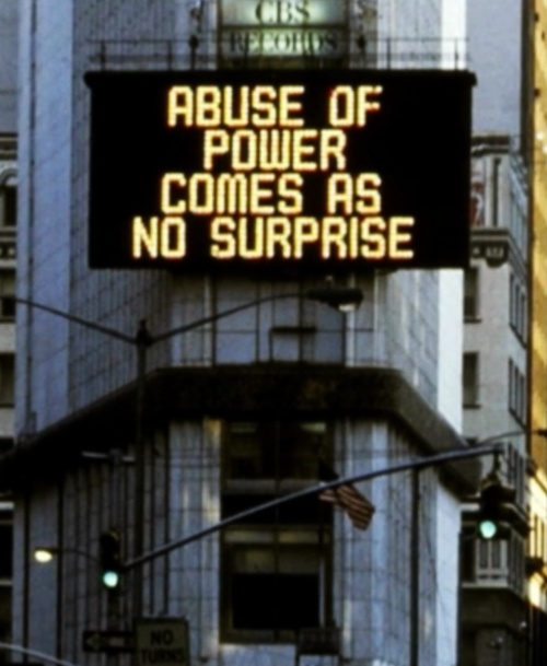 jenny holzer: abuse of power