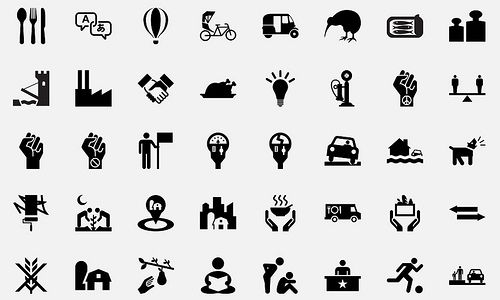 The noun project. Excellent source for minimal icons