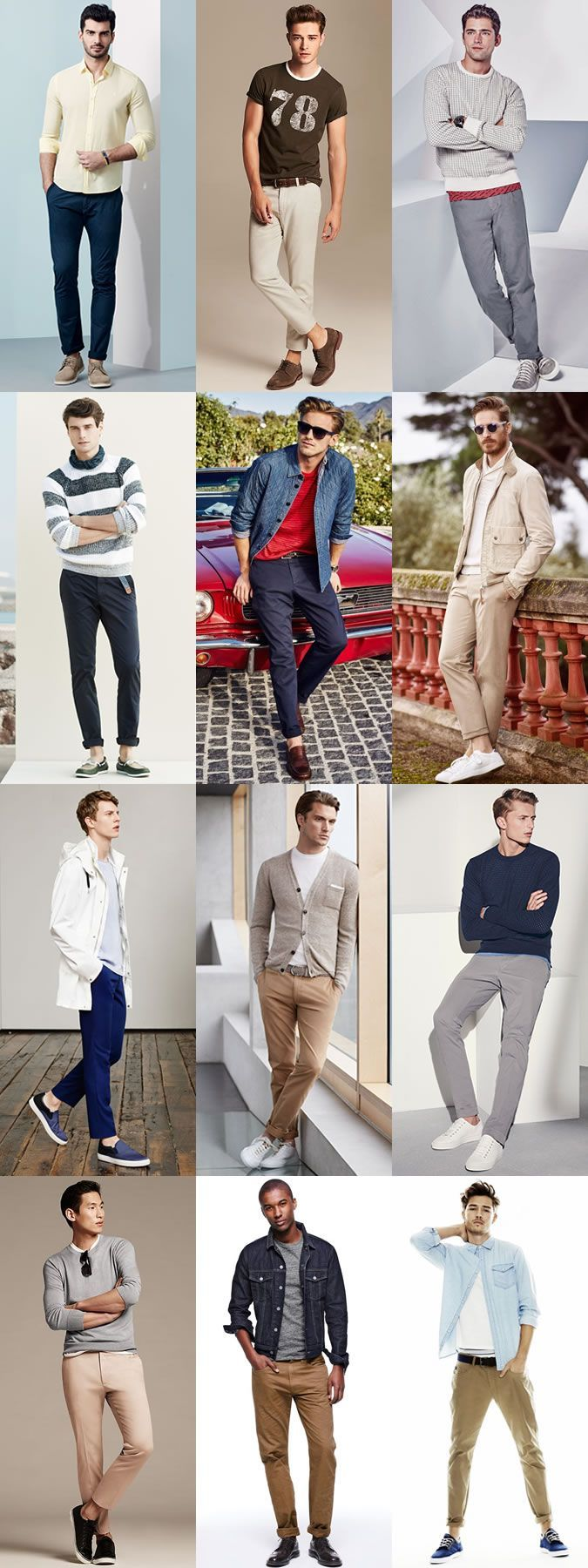 2015 Spring/Summer Men's Chinos Guide: Casual Style Lookbook Inspiration #MensFashionChinos