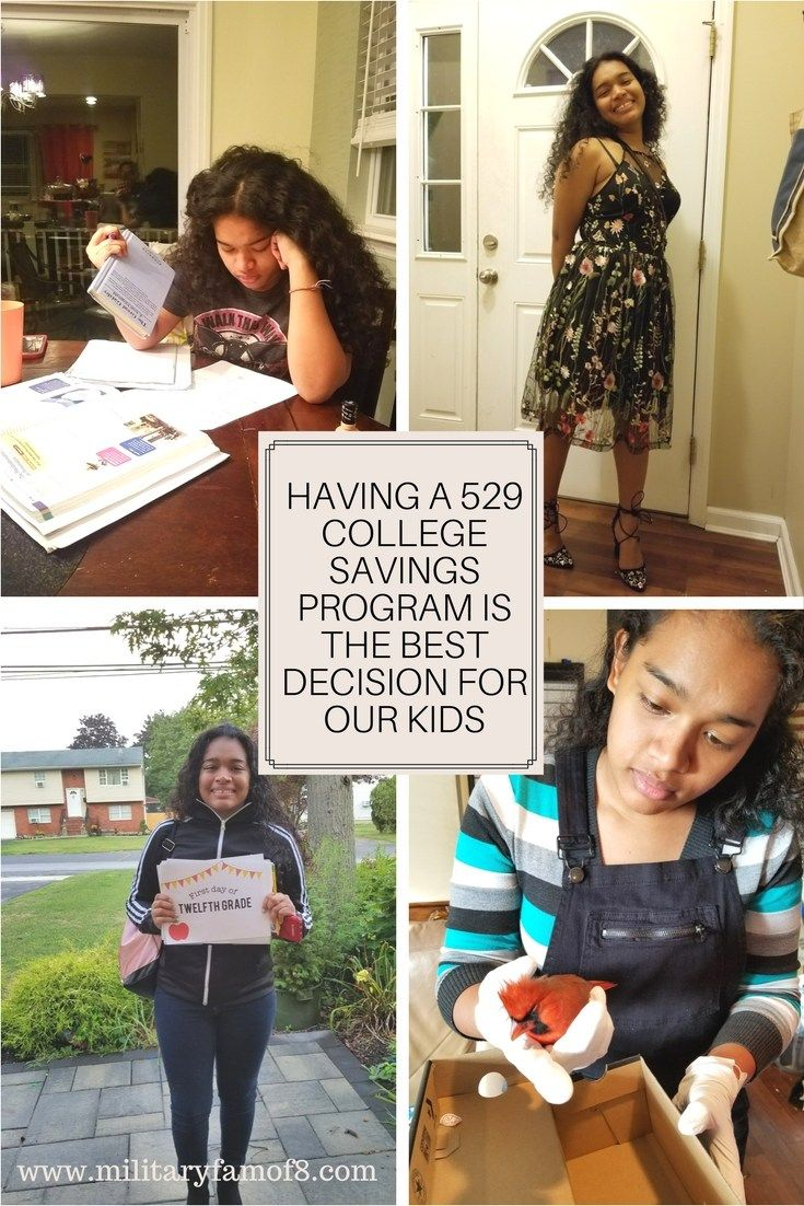 Having a 529 College Savings Program is the Best Decision for our Kids!  Read our latest post and learn about how the 529 College saving's plan has helped our Daughter and set the path for our other children... http://www.militaryfamof8.com/having-a-529-college-savings-program-is-the-best-decision-for-our-kids/