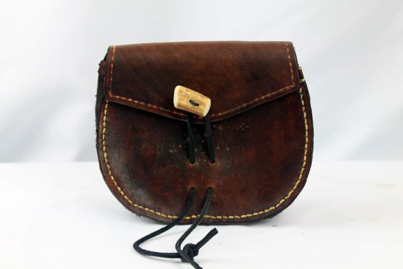 Leather Belt Pouch Pirate SCA Reenactment Costume by AeryckdeSade, $45.00