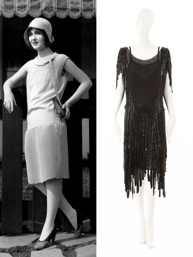 """1920s Defining Silhouette: Drop-waist dress Best For: Boyish and athletic shapes  """"What you'll often find with a 1920s piece, whether it's a flapper shape or a drop waist, is they tend to be sleeveless, by and large, and were cut to give as much of a column form as possible. It is perhaps the one shape that is quite particular to a certain body type, which is very athletic.""""  Steer Clear: If you have a big bust. It can be very difficult to wear, as everything hangs in a straight vertical…"""