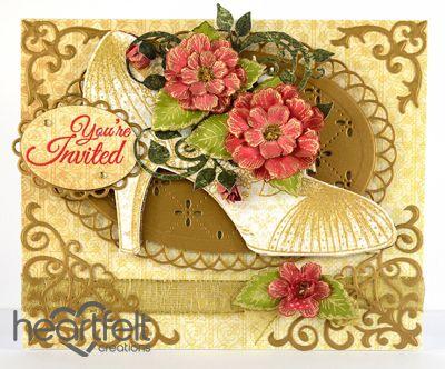 Heartfelt Creations | Blooming Invitation Shoe