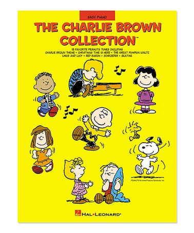 Look at this #zulilyfind! The Charlie Brown Collection Easy Piano Songbook #zulilyfinds