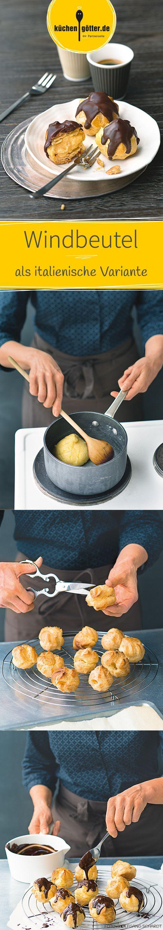 BIGNÈ ALLA CREMA - Unser Rezept für kleine Windbeutel mit Vanillecreme und Schokoüberzug passt perfekt zum Frühstückskaffee.