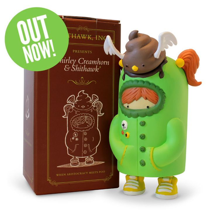 Image of Shirley Creamhorn & Shithawk Vinyl Toy - Green