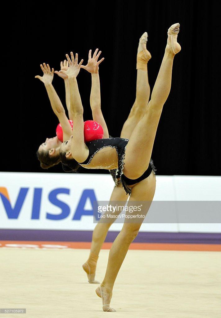 London Prepares Series Olympic Gymnastics Test Event North Greenwich Arena London UK Gymnastics Rhythmic Groups Final Group SUI