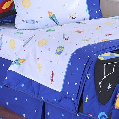 space galaxy kids bed sheets set twin full queen size for boys by olive kids - Kid Sheets