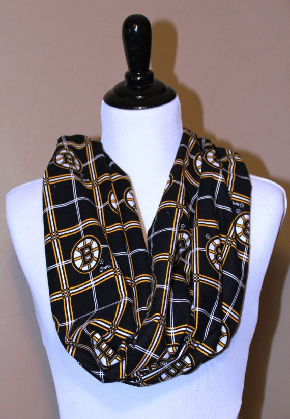 Boston Bruins Hockey Infinity Scarf by twelve21scarves on Etsy