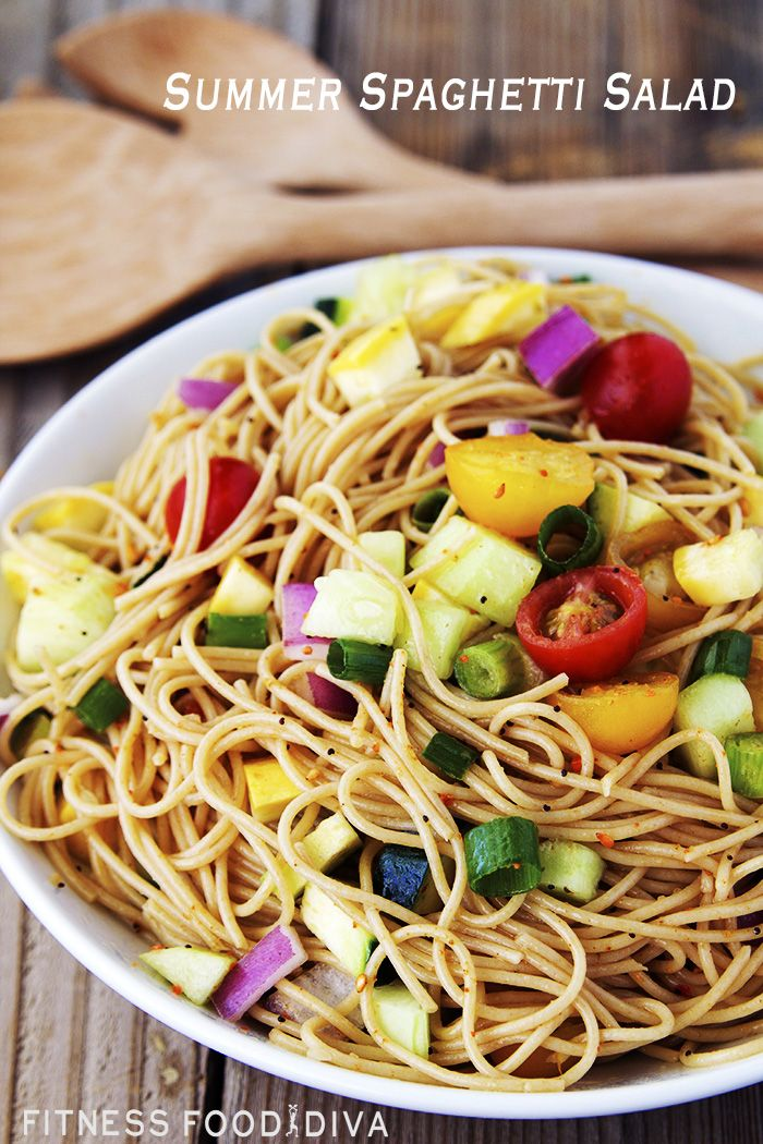 Cold Summer Spaghetti Salad Recipe Summer Salads And
