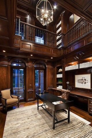 Florida home office library renée gaddis interiors