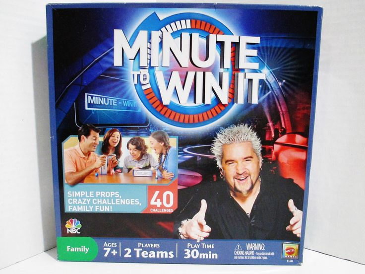 Mattel Minute to Win It Family Board Game - Simple Props 40 Crazy Challenges #Mattel..... Visit all of our online locations..... www.stores.ebay.com/ourfamilygeneralstore ..... www.bonanza.com/booths/Family_General_Store ..... www.facebook.com/OurFamilyGeneralStore