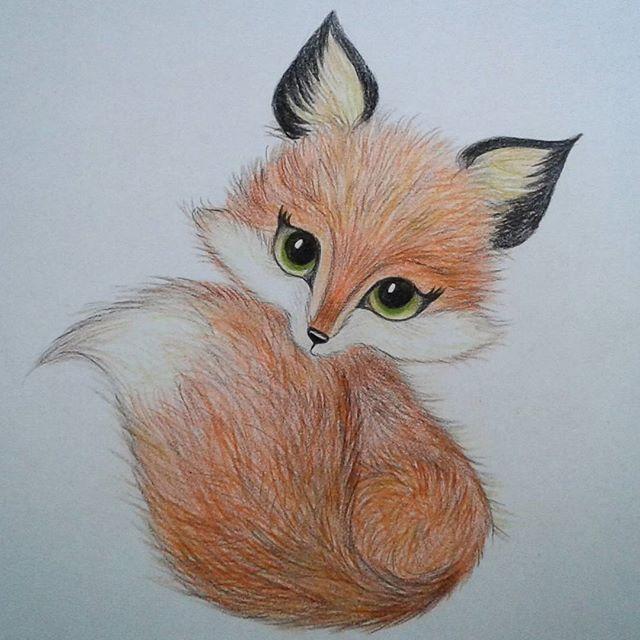 красивые и милые картинки для срисовывания цветными карандашами введением