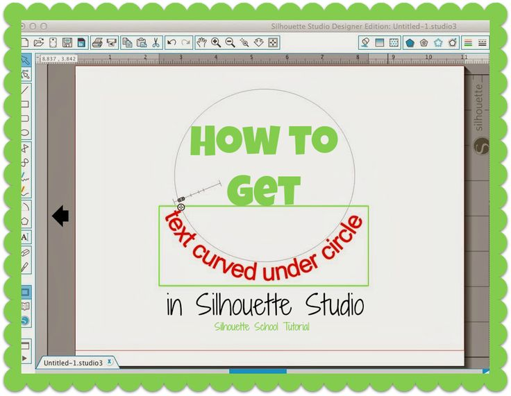 How to Curve Text Under a Circle in Silhouette Studio #silhouette #silhouettetutorials #textopath #silhouettestudio #silhouettecameo #silhouetteschool