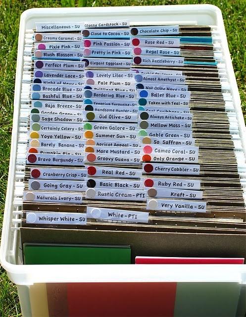 A good idea to organize scraps