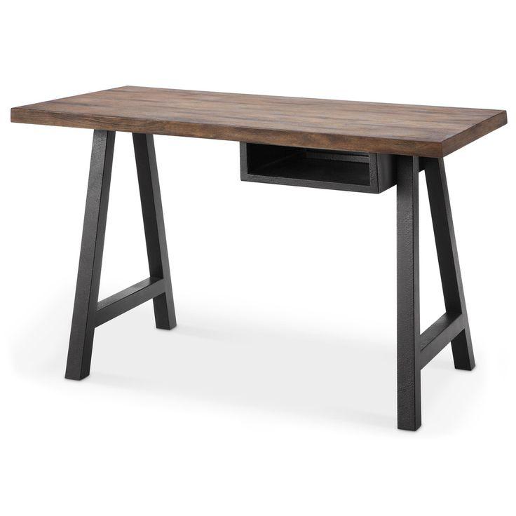 Renate Latte/ Black Desk and Shelf (Overstock)