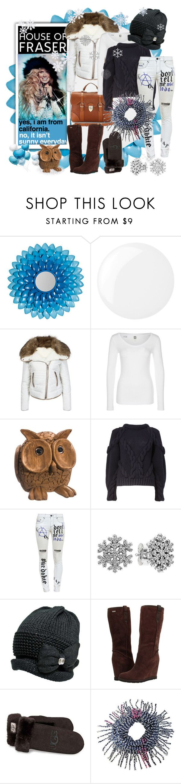 """""""Puffer jacket for winter, House of Fraser"""" by amara-m-hafeez ❤ liked on Polyvore featuring Essie, House of Fraser, Aspinal of London, Urban Bliss, G-Star, Allstate Floral, Alexander McQueen, Filles à papa, Pandora and UGG Australia"""