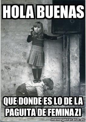 @RetuiteroRetuit @Lena_Prado @Mojarrison Como veo que sabe mucho de feminazis, aprovecho.