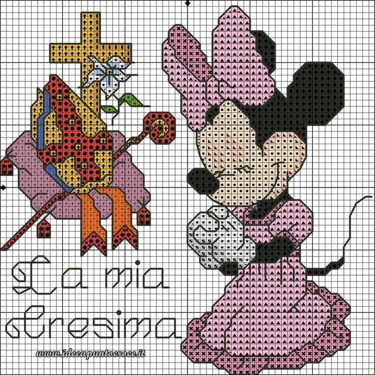 schema Minnie cresima punto croce