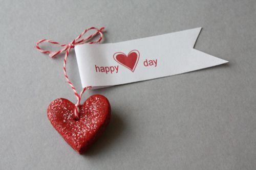 salt dough | valentines heart necklace