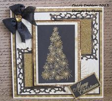 Stamps by Chloe Starry Tree and Glass Glitter!