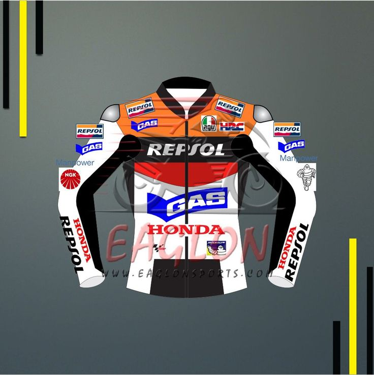 Description Valentino Rossi Honda Repsol Gas Motogp 2002 Leather Jacket is designed for professional bikers to show their love toward him and HondaBike on the track. This Jacketis made of Cowhide leather with thickness of 1.2-1.3 mm and Schoeller Kevlar Fabric for complete safety and comfort of rider. There is certified carbon inserted external protections …