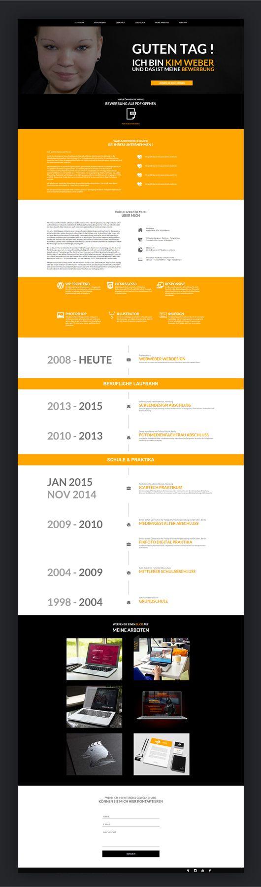 """Nach meiner Zeit in Hamburg bin ich wieder in meine Heimatstadt Berlin gezogen und war eine kurze Zeit arbeitssuchend. Schon immer haben die Arbeitgeber, bei denen ich mich beworben habe, eine außergewöhnliche Bewerbung von mir bekommen. Ich wollte unbedingt in einer Agentur als Designerin arbeiten und habe mich dazu bewegt eine eigene """"Bewerbungs-Website"""" zu bauen. Diese ist responsive angepasst und meine Bewerbungsunterlagen konnten die Agenturen via PDF downloaden. Das kam so gut an, dass…"""