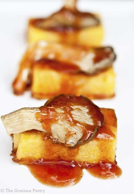 Clean Eating Recipes | Clean Eating BBQ Mushroom Polenta