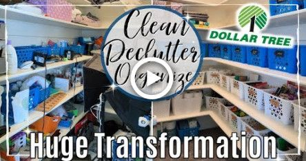 ULTIMATE DECLUTTER ORGANIZE & SPEED CLEAN WITH ME 2019 | LINEN CLOSET DOLLAR TREE
