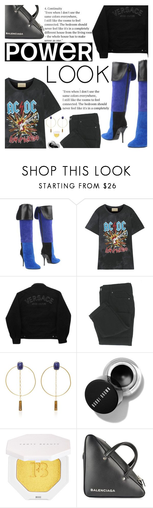 """""""Untitled #2566"""" by anarita11 ❤ liked on Polyvore featuring Versace, Gucci, Versace Jeans Couture, Isabel Marant, Puma and Balenciaga"""