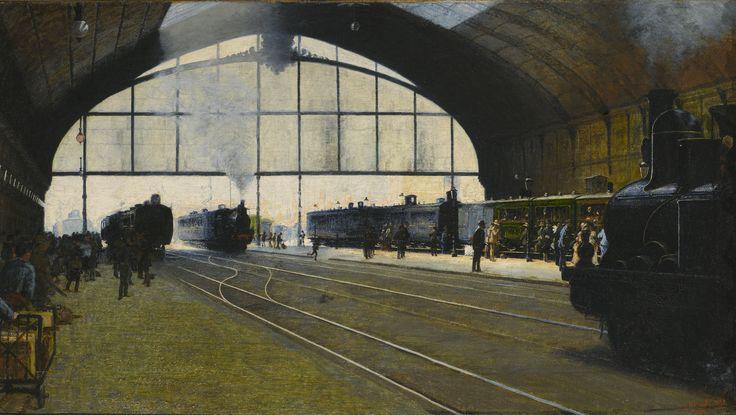 Angelo Morbelli - La stazione centrale di Milano nel 1889