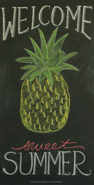 New Summer Pineapple Chalkboard Art (and Free Printable!) | Less Than Perfect Life of Bliss | home, diy, travel, parties, family, faith,