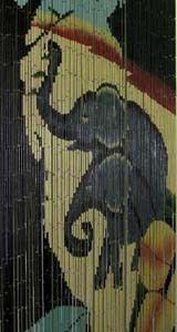 Elephants Bamboo Beaded Curtain Divider Hanging Door Doorway Screen